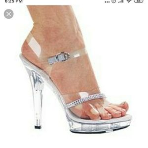 New Ellie clear shoes